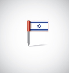 Israel flag pin vector image