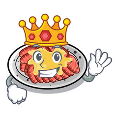 King carpaccio in a character shape vector