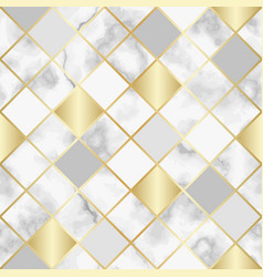 Marble luxury geometric seamless pattern vector