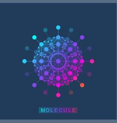 molecule logo template icon science genetics vector image