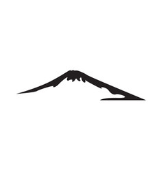 mountain graphic design template isolated vector image