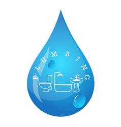 Plumbing symbol for repair and maintenance vector