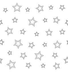 Seamless geometric pattern with stars on a white vector image