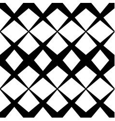 Seamless monochrome pattern with x shape vector