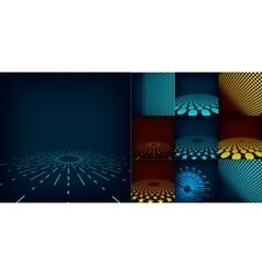 Set of ten abstract digital background vector image