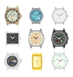 set watches stylish accessory for men vector image