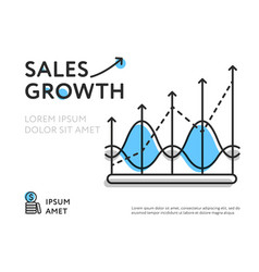 Simple design representing sales increase vector