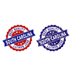 south carolina state best quality stamp with dirty vector image