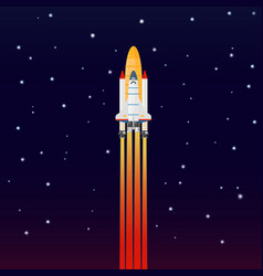 Space galaxy rocket spaceship launch vector