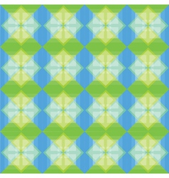 Squares pattern blue and green background vector