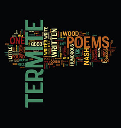 termite poems text background word cloud concept vector image