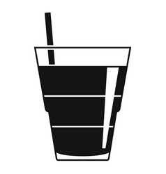 Tonic cocktail icon simple style vector