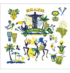 traditional Brazilian Carnival vector image