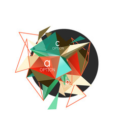 triangle abstract background low poly vector image