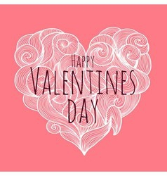 Valentines day decorative card vector image