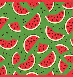watermelon seamless background pattern vector image