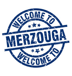 Welcome to merzouga blue stamp vector