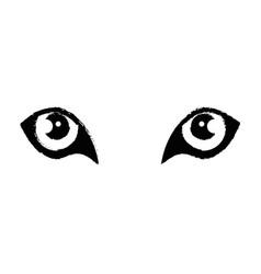 Wild jaguar eyes vector
