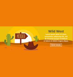 wild west banner horizontal concept vector image
