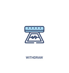 Withdraw concept 2 colored icon simple line vector