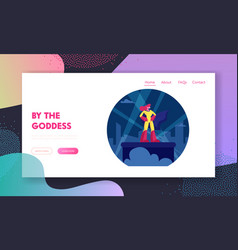 woman superhero website landing page sexy girl in vector image