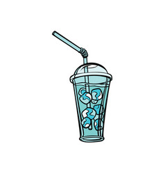 drink with ice vector image