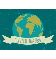 Earth Day poster vector image