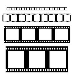 filmstrip set vector image