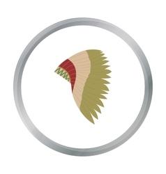 Mohawk indian icon cartoon Singe western icon vector image vector image