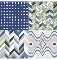 Set of Retro Seamless Abstract Wavy Backgrounds vector image vector image