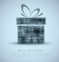 Simple Christmas card with a gift vector image vector image