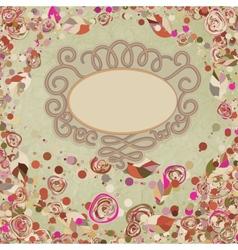 Vintage flower template floral background EPS 8 vector image vector image