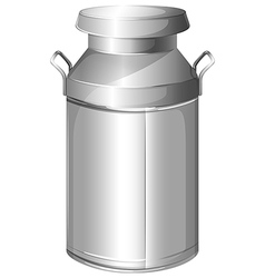 A milk stainless container vector
