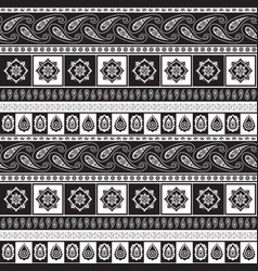 black and white ethnic pattern vector image