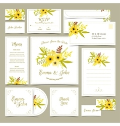 Collection of wedding invitations vector image