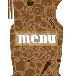 fork and spoon menu vector image vector image