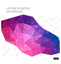 Geometric background vector image