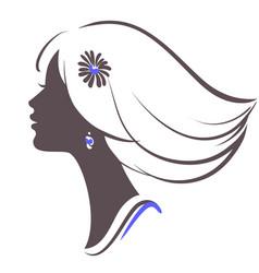 girl face vector image vector image