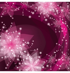 Greeting or invitation card abstract floral vector image vector image