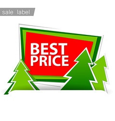 Merry Christmas sale vector image vector image