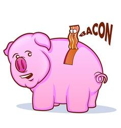 Bacon Pig vector image