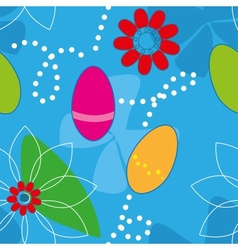 Cute Easter Seamless pattern background vector image