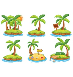 Islands with different signs vector image