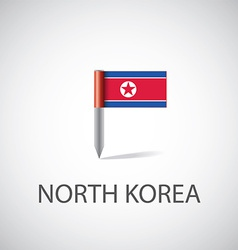North Korea flag pin vector image
