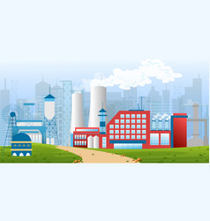 stock of an industrial zone vector image