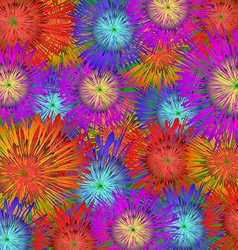 Asters and hyacinths vector image