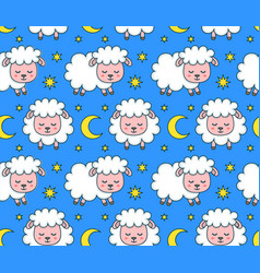 cute smilng funny sleeping sweet dreams vector image vector image