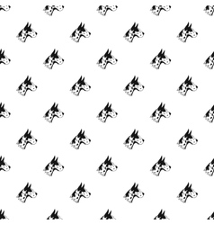 Doberman dog pattern simple style vector image