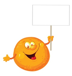 orange with a blank sign vector image vector image