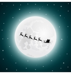 Santa Claus goes to sled reindeer in the vector image vector image